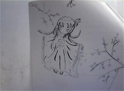 简单人物背影铅笔画展示
