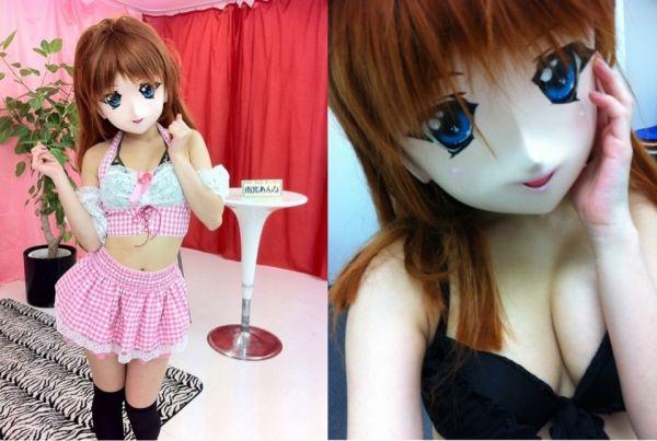 头戴二次元面具无法呼吸的模特儿:雨宫安娜