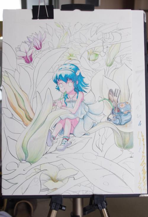 小花仙玩家 晒花卉背景手绘花仙图