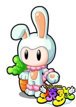 逃跑的兔子的简笔画