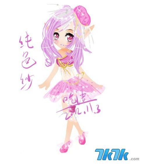 小花仙手绘服装纯色纱11月3日之呓语版