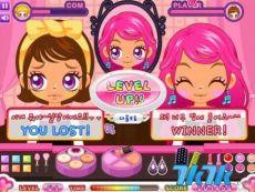 公主换装化妆小游戏