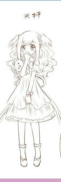 手绘奥比岛十二星座萝莉女仆