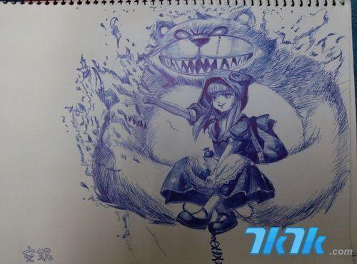 网络英雄洛克人_黑与白的魔力 《英雄联盟》精美手绘(4)