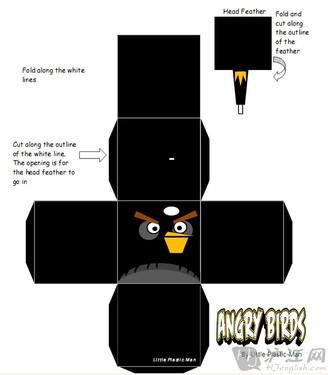 第6页:愤怒小鸟蓝色鸟折纸