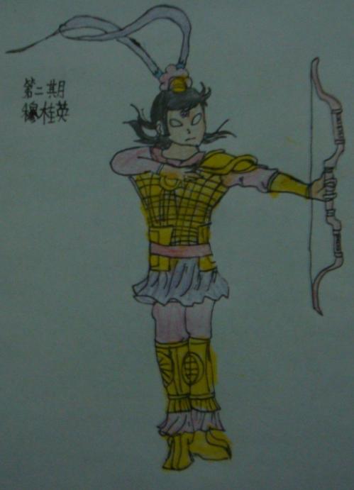 多克多比玩家手绘穆桂英多比二