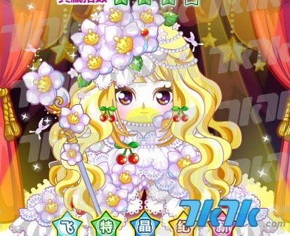 樱桃浪漫公主发,优雅樱桃花项链,樱桃公主婚纱装,樱桃公主花花杖,樱桃