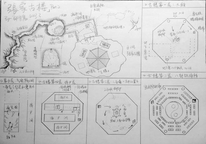 90后小伙手绘盗墓笔记地图 12张地图详解(图集)