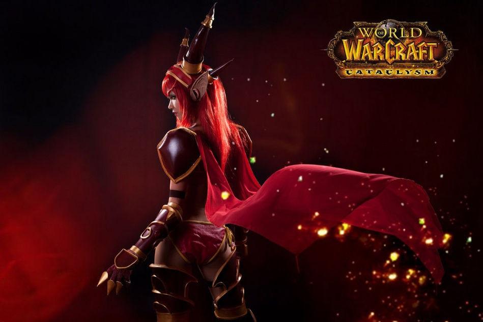 《魔兽世界》国服性感女玩家