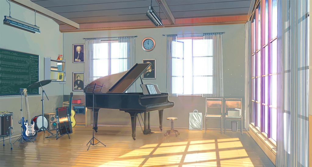 Résultat d'images pour salle de musique manga