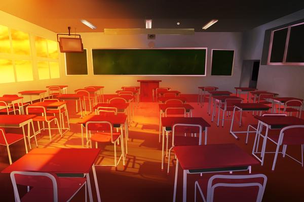 漫画教室场景分享; 课室场景的漫画素材;