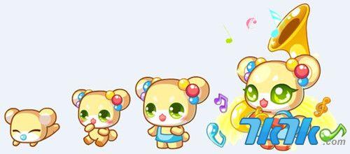7k7k小游戏 奥比岛 动物园  星级 小花熊是二星动物,喇叭熊花花是百里