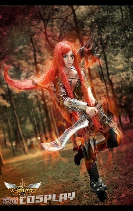 台湾正妹娜美_漫道杯cosplay大赛《英雄联盟》卡特琳娜COS_7k7k英雄联盟