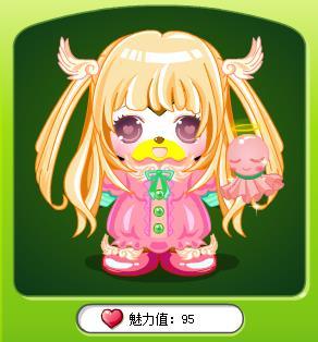 奥比岛日本公主表情换绿萌蝴蝶结头饰亏吗?