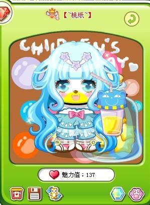 奥比岛桃子装扮冰天仙女长发图片
