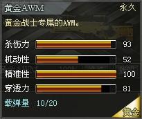 4399创世兵魂黄金AWM属性 黄金AWM多少钱