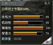 4399创世兵魂白银AWM属性 白银AWM多少钱