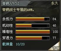 4399创世兵魂青铜AWM属性 青铜AWM多少钱