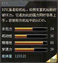 4399创世兵魂RPK属性 RPK多少钱
