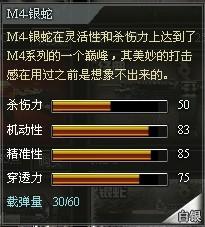 4399创世兵魂M4-银蛇属性 M4-银蛇多少钱