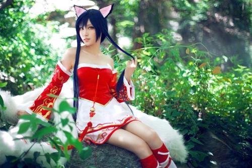 英雄联盟 娇俏阿狸外景cosplay 5 高清图片