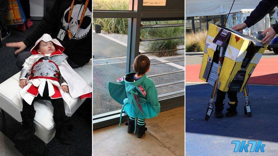 这个小孩名叫Boo,7月初他跟着他的父母一起来到了澳大利亚的墨尔本来参观PAX大会,期间他穿着各种各样的cosplay服装陪着他的父母度过了一个美好的周末,小朋友真实萌爆了!
