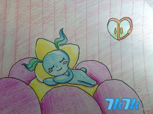 龙猫彩铅手绘高清图片