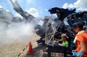 """Kabutom RX-03长11米,重17吨,有6条""""腿"""",利用柴油发动机驱动,前部的""""鼻子""""还能喷气。"""