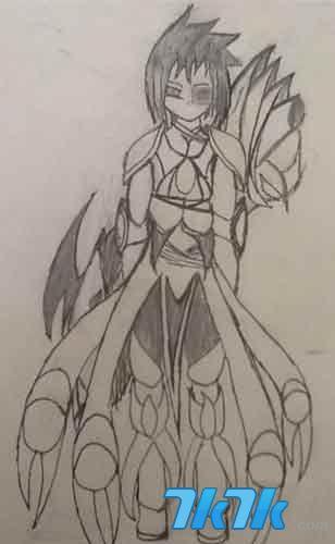 龙斗士手绘繁花线稿_龙斗士玩家繁花手绘线稿