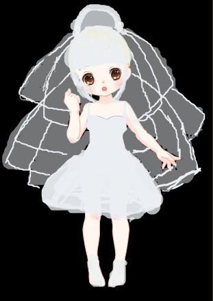 奥比岛涂鸦_奥比岛纯白婚纱
