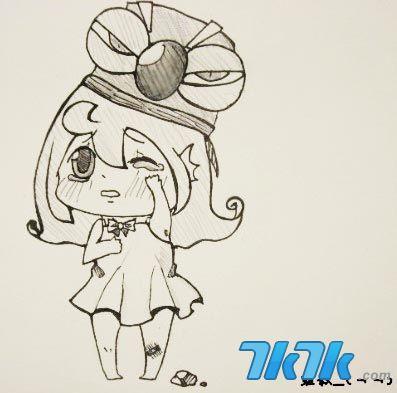 龙斗士漫画 呱呱牌手绘萌妹子