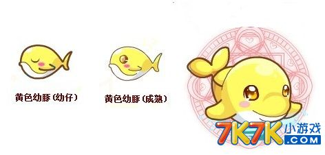 变异,进化,图鉴及获得方法 星级 黄色幼豚是二星动物,黄金小海豚是