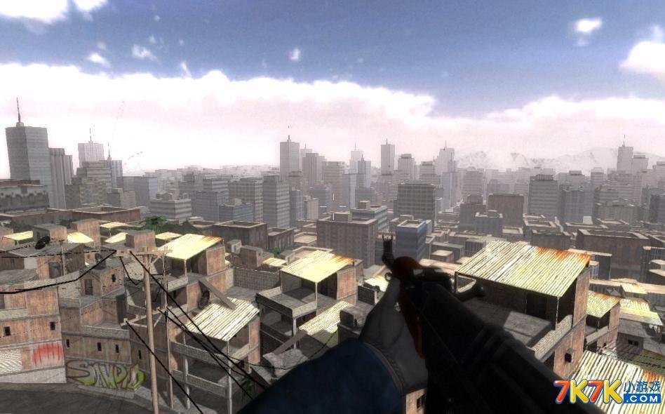 游戏地图中的场景要素非常丰富,看起来不但可以作为fps的游戏地图