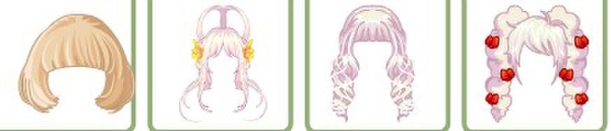 奥比岛雪碧搭配之百搭头发(二)