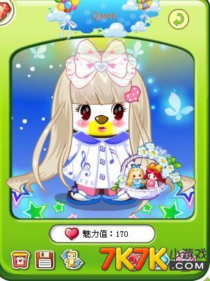 奥比岛凉鱼搭配可爱音符小短裙