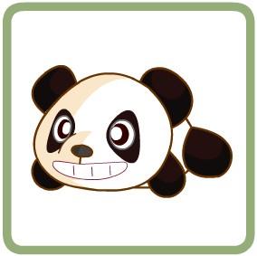 奥比岛趴趴大熊猫头饰