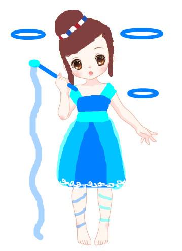奥比岛槿凉涂鸦舞蹈女孩