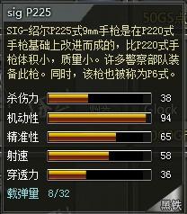 4399创世兵魂sigP225属性 sigP225多少钱