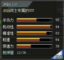 4399创世兵魂冰钻USP属性 冰钻USP多少钱