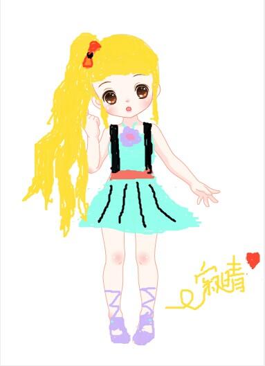 奥比岛涂鸦:长发女孩