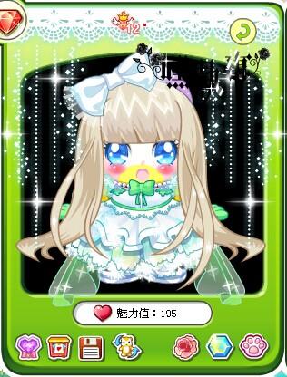 奥比岛小柒搭配公主雪花飘纱裙