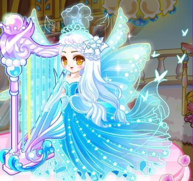 蝴蝶翅膀+豌豆公主发型