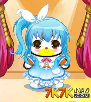 7k7k小游戏 奥比岛 奥比服饰    包含部件       可爱兔耳头饰,蓝色小
