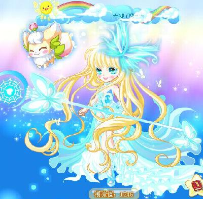 奥比岛幼晴搭配魔力时装