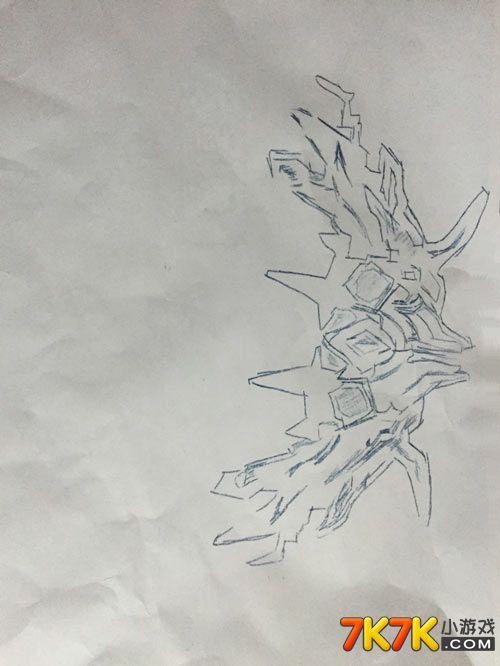龙斗士手绘弓箭橙色武器