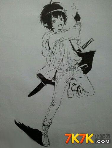 龙斗士手绘男魔剑