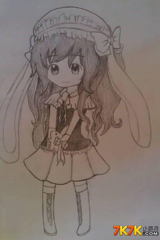 q版兔子萌图手绘