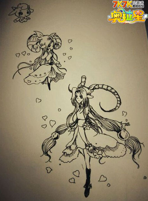 小兔点评:在海螺童鞋的手绘中,娇俏可爱的木羊羊究极之后,外貌更加的