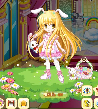 奥比岛结月缘之兔兔精灵装