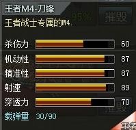 4399创世兵魂王者M4-刀锋属性 多少钱